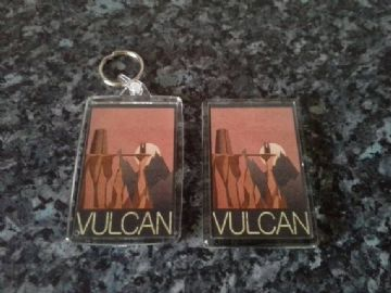Vulcan Keyring and Magnet Set. Star Trek, Spock. Travel Poster Style. Art Deco, Sci Fi